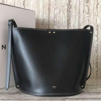 100% Authentic Celine Small Studs Bucket Bag In Black Calfskin Lexington 2c542c4ea65a7