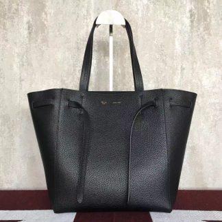 ec54290c82d1 ... Cheap Celine Small Cabas Phantom Bag With Belt In Black Leather  Columbus