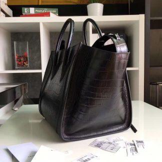 ... China Cheap Celine Black Crocodile Phantom Luggage Tote Sacramento 2e6b51b84e8f4