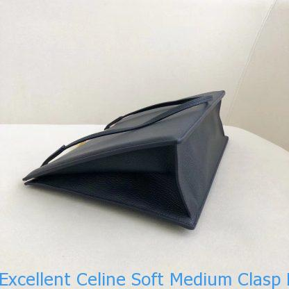 Excellent Celine Soft Medium Clasp Bag In Navy Goatskin Philadelphia ... 8f8d29b1b2afb