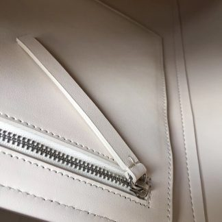 97eb8ca5698e ... Highest Quality Celine Cabas Clasp Bag In White Calfskin St. Louis