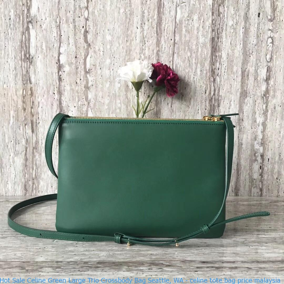 d85d4372cf Hot Sale Celine Green Large Trio Crossbody Bag Seattle