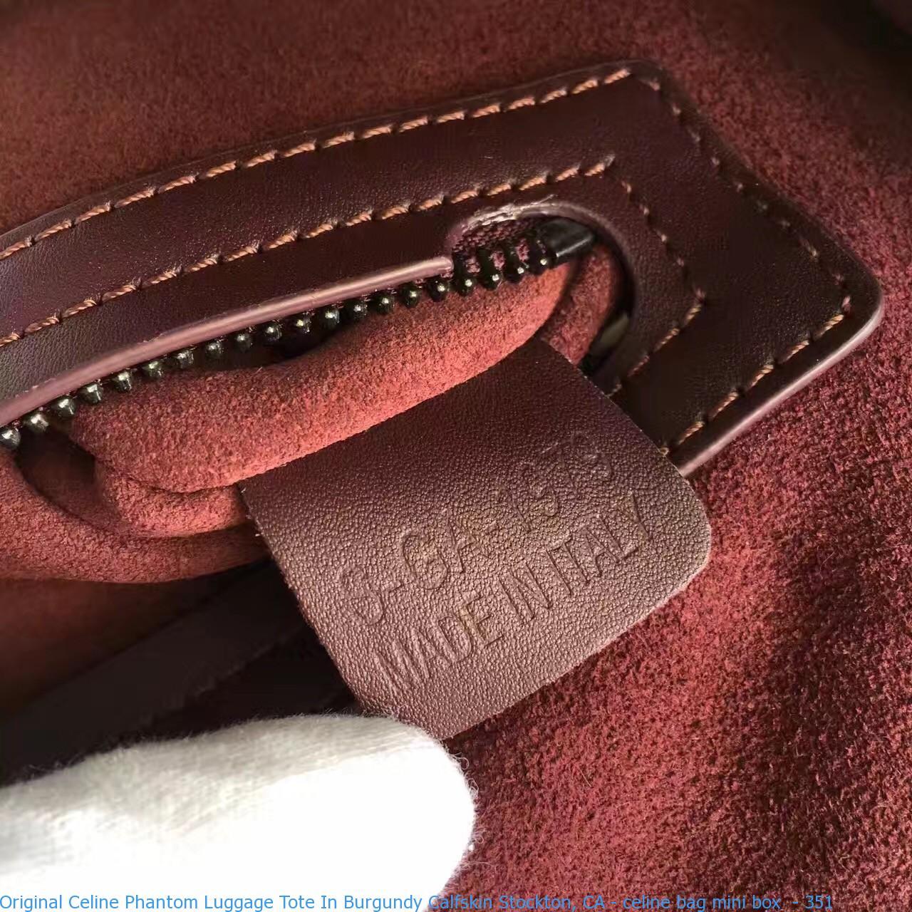 Original Celine Phantom Luggage Tote In Burgundy Calfskin Stockton ... 03799de0f668c