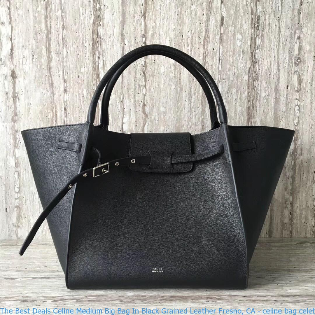 Medium Bag In Black Grained Leather