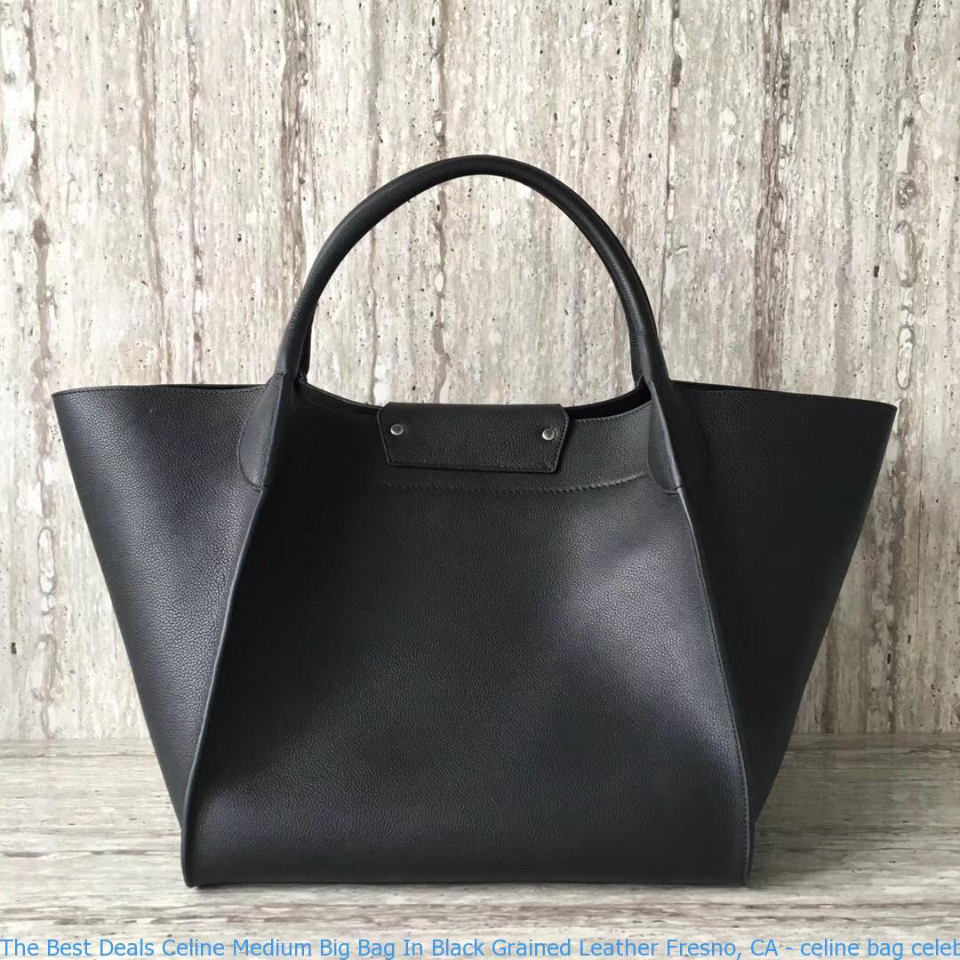 fc24ef4434 The Best Deals Celine Medium Big Bag In Black Grained Leather Fresno ...