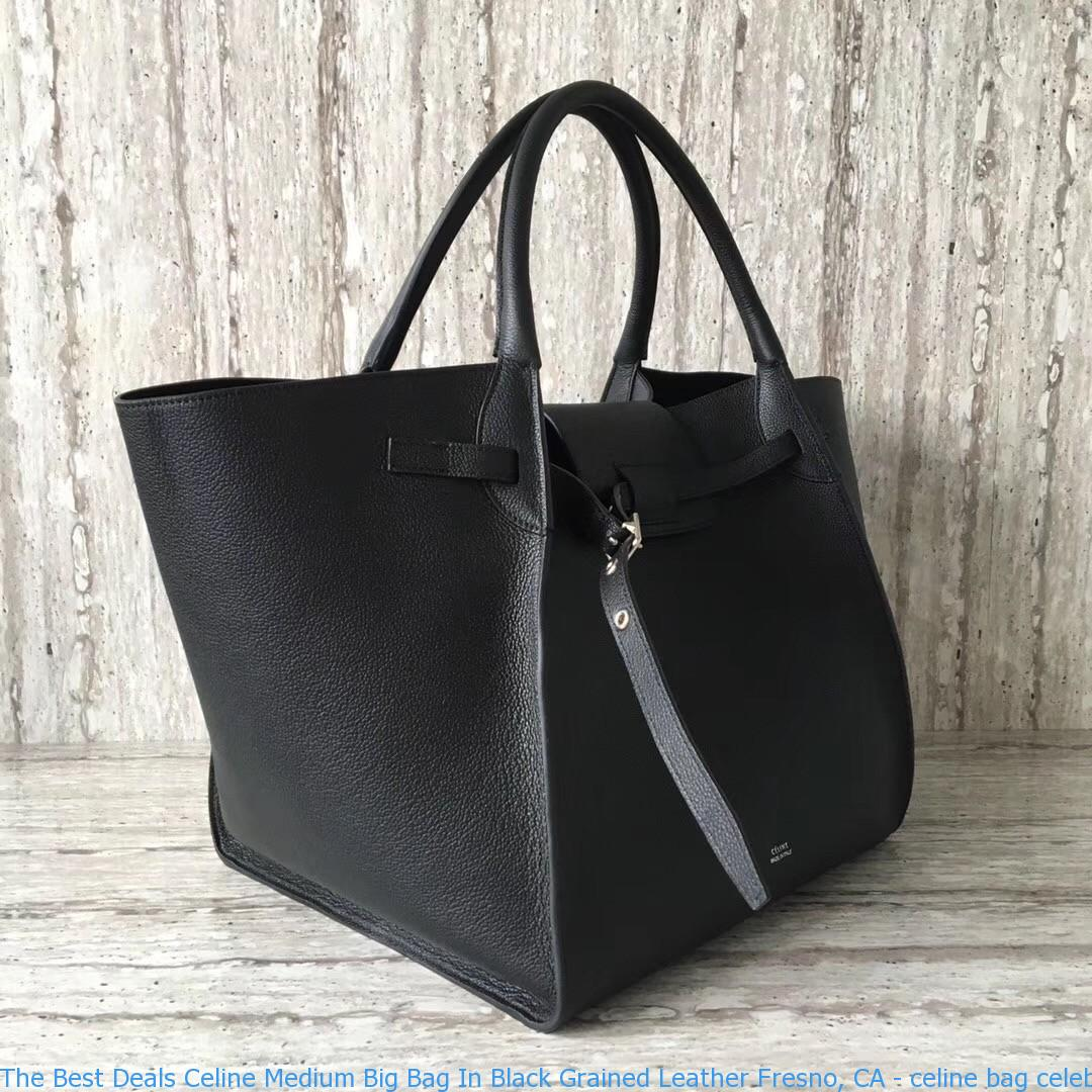a1a110612707 The Best Deals Celine Medium Big Bag In Black Grained Leather Fresno ...