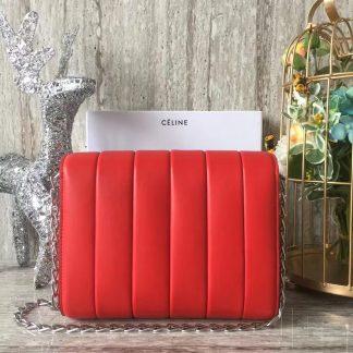 20a484113b66 ... UK Celine Medium Vertical Quilted Shoulder Bag In Red Leather  Philadelphia